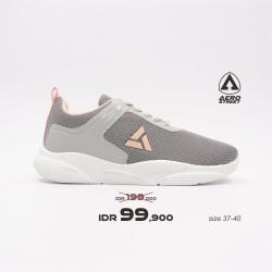 Aerostreet 37-40 Jeselyn Abu Peach -Sepatu Sneakers Sport Pria Wanita
