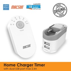 LOLYPLOY Smart Timer Charger Dual USB Fast Charging 2.4A - 195