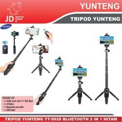 Tongsis Tripod Yunteng YT-9928 Bluetooth 2 in 1 Hitam