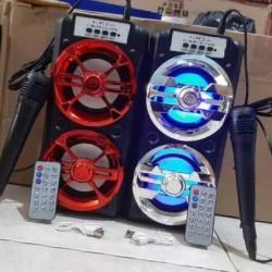 Speaker bluetooth FLECO F-6581 / F-6582 Bonus Mic Siap Karaoke USB FM