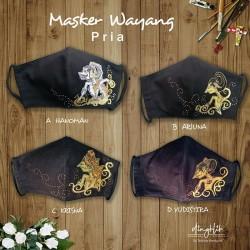 Masker Kain Fashion Wayang Pria
