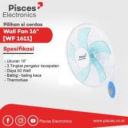 """Pisces Wall Fan 16"""" dengan 3 kecepatan - 1611"""