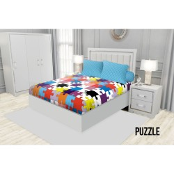 SPREI KING FITTED CALIFORNIA 180X200 PUZZLE