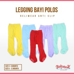 Legging Bayi Polos Cotton Rich Tights Tutup Kaki | Reliwear Baby