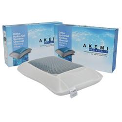 AKEMI Medi + Health Ortho Hydro Gel Bamboo Charcoal Memory Pillow