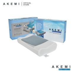 AKEMI Medi + Health Contour Hydro Gel Bamboo Charcoal Memory Pillow