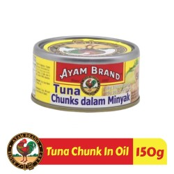 Ikan Tuna Kaleng Chunk In Oil Ayam Brand 150gr