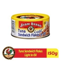 Ikan Tuna Kaleng Sandwich Flakes In Oil Ayam Brand 150gr