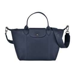 LONGCHAMP PLIAGE CUIR S LEATHER IN NAVY 41182