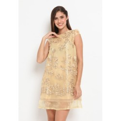 Heart and Feel Lace Blouse soft gold