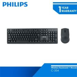 Philips Wireless Keyboard C354 Mouse Combo