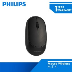 Philips Mouse Wireless 2.4 GHZ M-314 Black