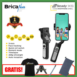 Brica BSteady XS - Free T-Shirt + Strap + Tripod Mini + Carrying Pouch