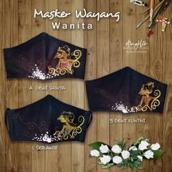 Masker Kain Fashion Wayang Wanita