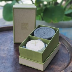 DALGIH Lemon Grass candle with Lava stone in box