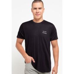 Third Day MTB33Y s-s Men Katakana underline cst blk T-shirt Navy