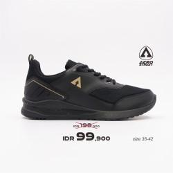 Aerostreet 35-42 Tiger Hitam Emas - Sepatu Sneakers Casual Sport