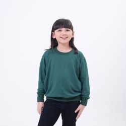 Hoodieku Kids Sweater Earth Collectible Forest Green Perempuan