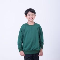 Hoodieku Kids Sweater Earth Collectible Forest Green Laki-Laki