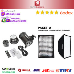 GODOX SL 60 W / SL60W / SL-60W + Softbox Grid Continuous Light Resmi