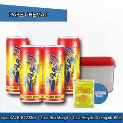 Paket 4pcs ENA'O KALENG 238ml + Minyak Goreng 60ml + Box Mungil