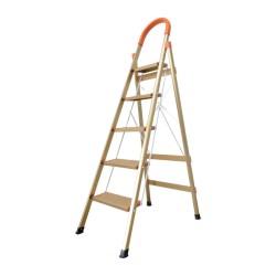 Ladder Tangga Lipat KMH0305K 5 Step Gold Bentuk A 1.6 Meter Aluminium