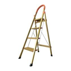 Ladder Tangga Lipat KMH0304K 4 Step Gold Bentuk A 1.4 Meter Aluminium