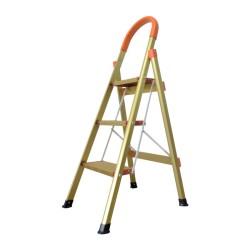 Ladder Tangga Lipat KMH0303K 3 Step Gold Bentuk A 1.1 Meter Aluminium