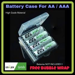 Kotak Baterai - Baterai Case 4x AA & AAA Transparan