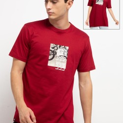 d&f Kaos pria Live To Ride - Red
