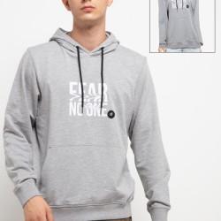 d&f Sweater pria Fear No One-Abu-abu