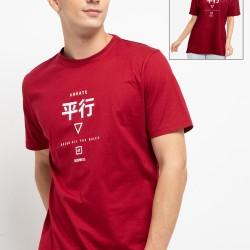 d&f Kaos pria Katakana - Maroon