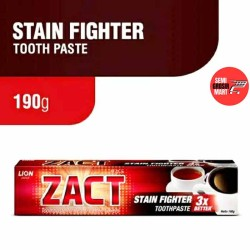 Zact Stain Fighter Toothpaste 3x Better For Tea and Coffee Lovers 190g