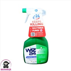 WIZ 24 Disinfectant Spray Permukaan Fresh Scent Botol 450 ml