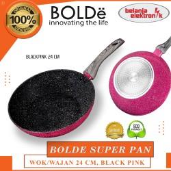 FRYPAN WAJAN GRANITE BOLDE SUPER PAN WOK 24 CM BLACKPINK