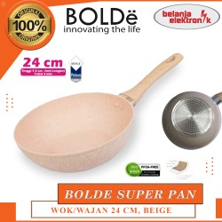BOLDE SUPER PAN WOK - PANCI WAJAN GRANITE COATING BEIGE 24 CM