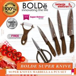 PISAU GUNTING DAPUR BOLDE SUPER KNIVES MARBELLA 6 PCS SET
