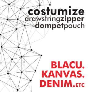 dompet costum, pouch serbaguna, desain sendiri, costume pouch, sablon