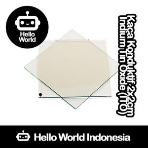 Kaca Konduktif Indium Tin Oxide (ITO) 2x2cm