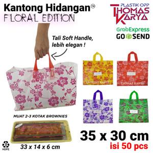 KANTONG HIDANGAN 35x30 CM - Kantong Plastik Soft Handle Bag Brownies