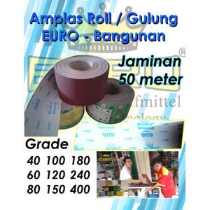PROMO!! Amplas Roll / Gulung BANGUNAN merk EURO Harga Per Roll