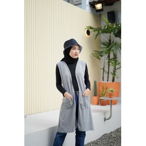Mybamus Plain Pocket Outer Light Gray Misty M12346 R16S2