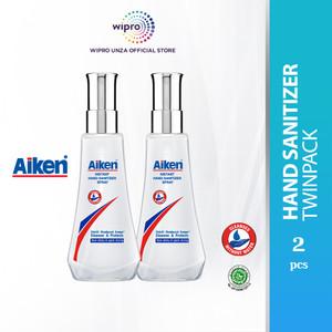 Aiken Instant Hand Sanitizer Spray 120 Ml Twinpack