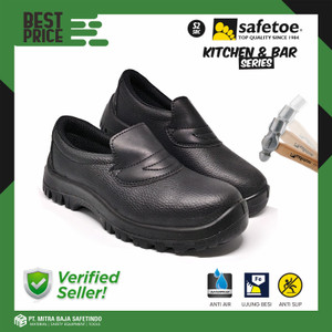 Sepatu Safety SAFETOE Kitchen Chef Anti Minyak Air Detergen DRACO PU