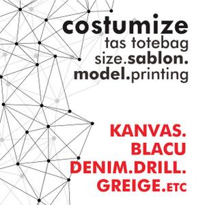 tote bag costum, sablon/ukuran dan model tas, costume tas printing