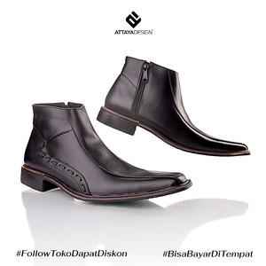 Sepatu Pantofel Pria Kulit Asli Formal Kerja Kantor Boots FT1