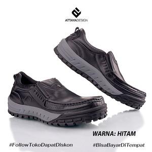 Sepatu Pria Kasual Branded Kulit Asli Model Selop Elastis GR4
