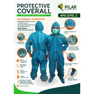 Anti Air Bisa Dicuci Hazmat Baju APD Corona Anti Virus Level 2