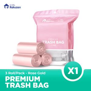 Rakuzen Premium Trash Bag Uk. 45 x 50 - Rose Gold