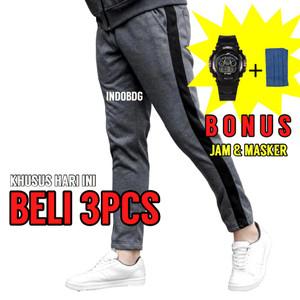 Celana Track Pants Sweatpants Bahan Fleece Tebal